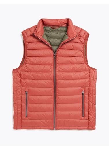 Marks & Spencer Hafif Kaz Tüyü (Down ve Feather) Yelek (Stormwear™ Teknolojisi ile) Oranj